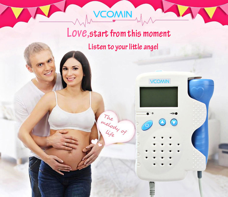 VCOMIN FD - 200B Fetal Doppler Fetal Heart Rate Detection Device for Home Office Supplies