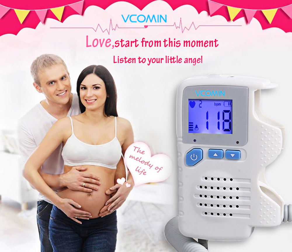 VCOMIN FD - 200D+ Fetal Doppler LCD Screen Baby Heart Rate Detection Device
