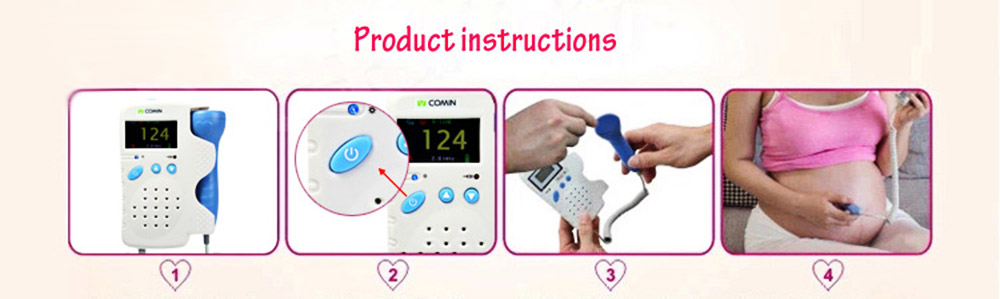 VCOMIN FD - 200G Fetal Doppler LCD Screen Baby Heart Rate Detection Device
