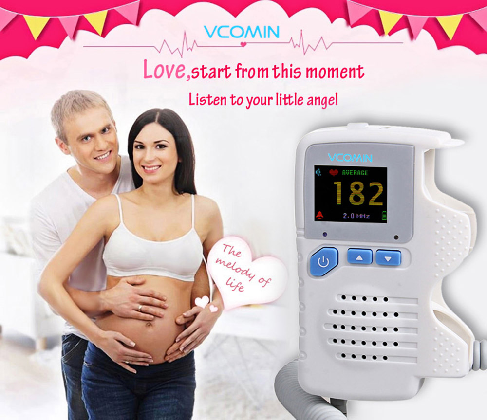 VCOMIN FD - 200G+ Fetal Doppler LCD Screen Baby Heart Rate Detection Device