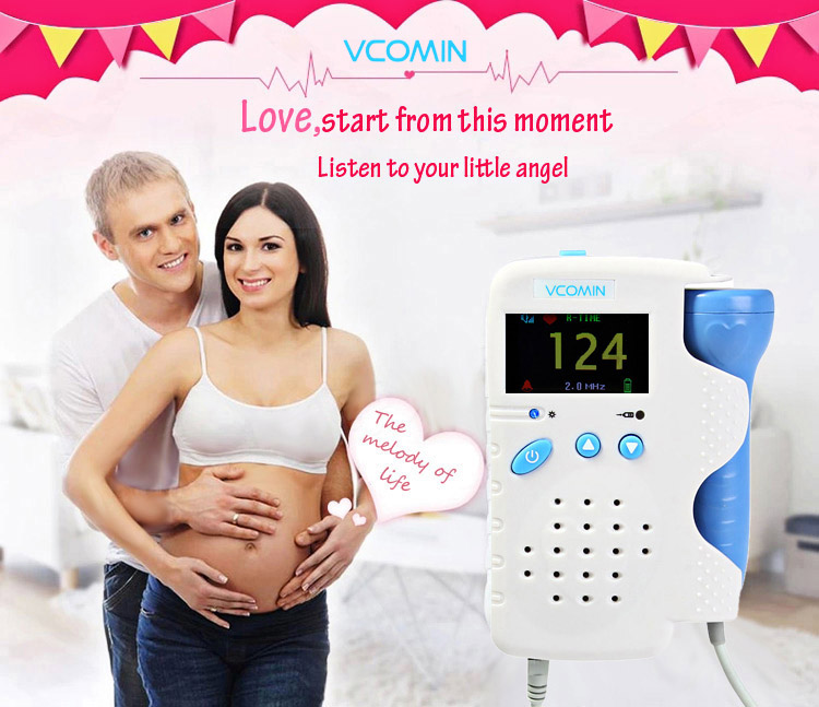 VCOMIN FD - 200C Fetal Doppler LCD Screen Baby Heart Rate Detection Device