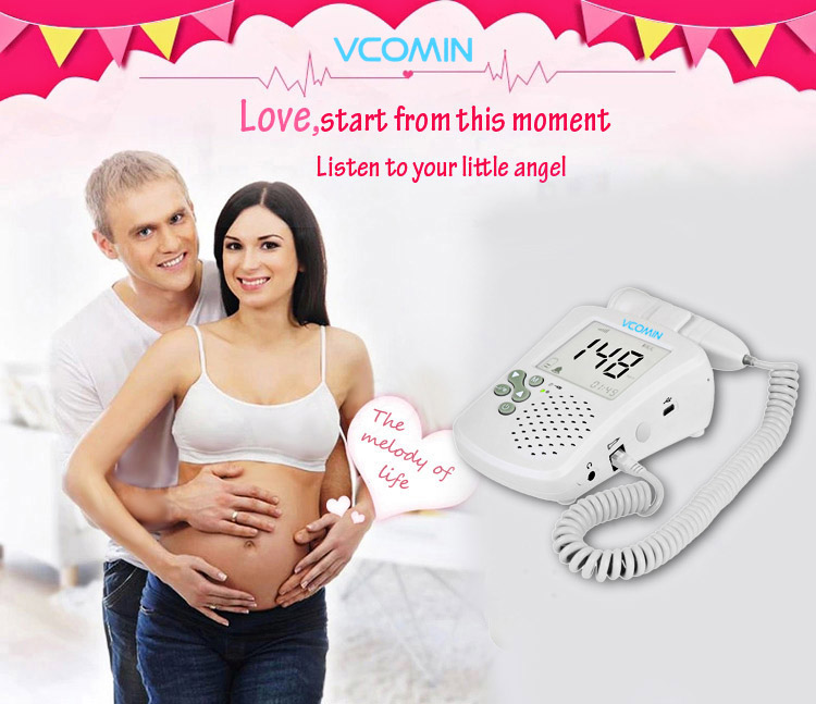 VCOMIN FD - 300B Fetal Doppler Large LCD Screen Baby Heart Rate Detection Device