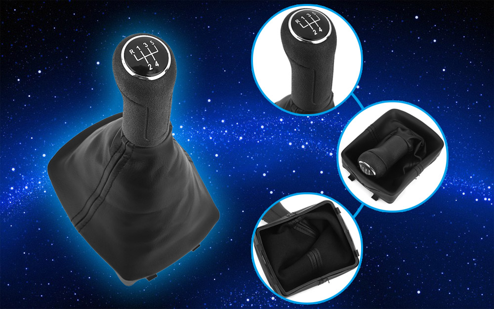 Automobile Five Speed Leather Shift Knob Shifter Boot Car Gear Lever Dust-proof Gaiter for Volkswagen Polo