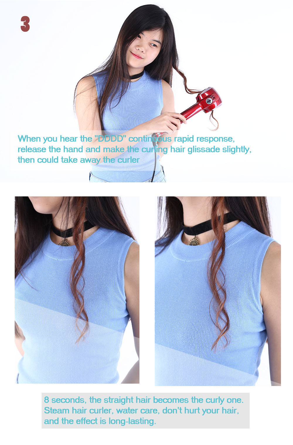 Automatic Steam Hair Curlers Ceramic Wave Water Care Magic Multi-functional Styling Tools