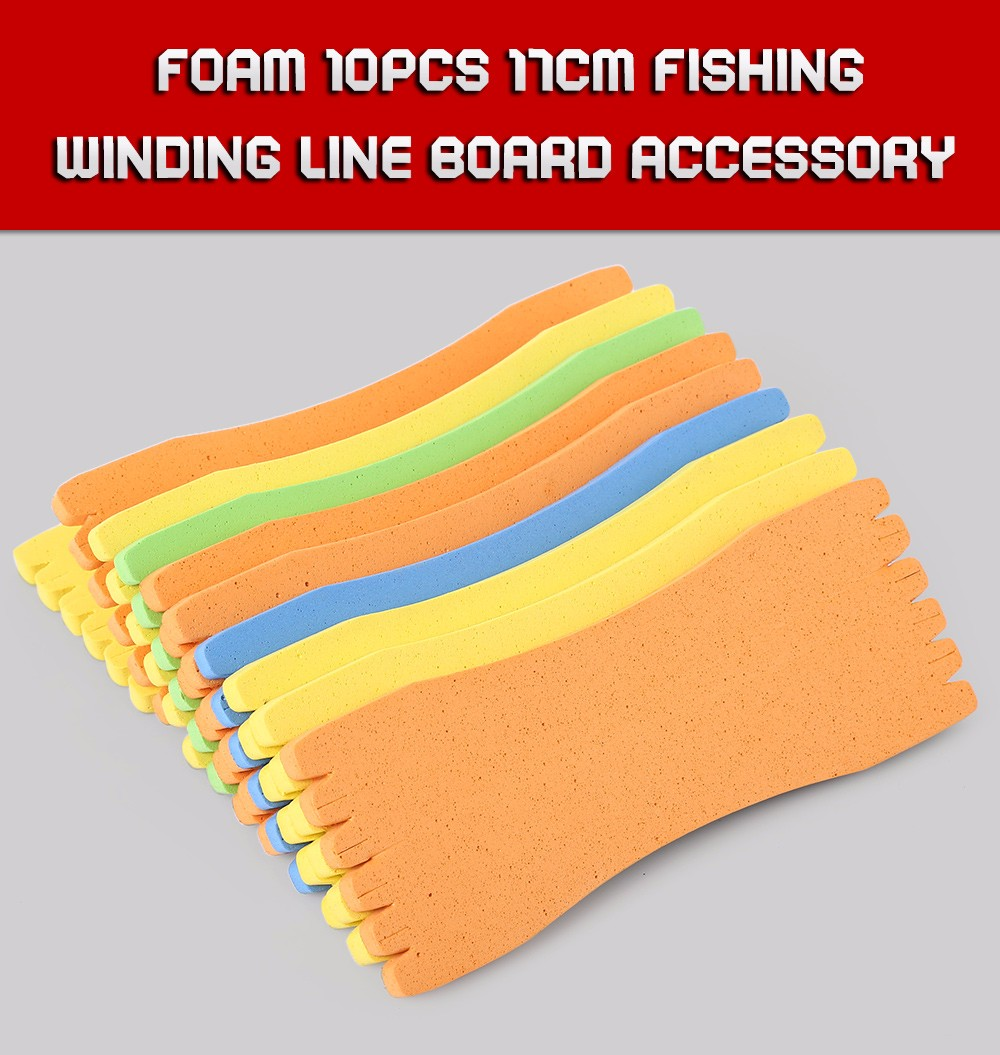 Sponge 10pcs 17CM Fishing Winding Line Board Accessory