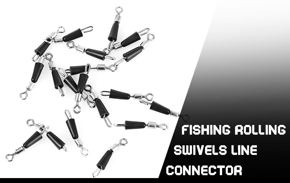 20pcs Number 10 Fishing Rolling Swivel Line Connector