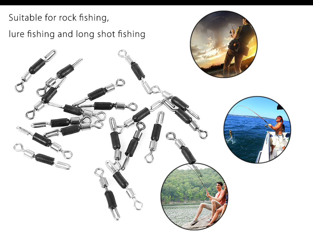 Fishing Rolling Number 12 20pcs Swivels Line Connector