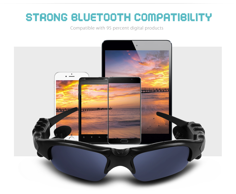 Robesbon Polarized Bluetooth MP3 Phone Bicycle Glasses Outdoor Sports Motorcycling Sunglasses