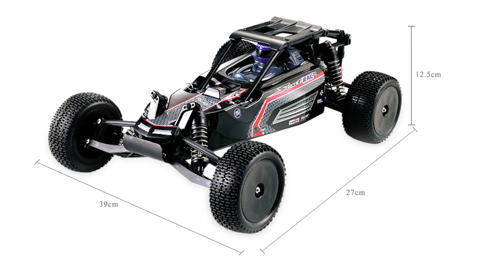 HUANQI 739 1:10 Scale 2.4G 2WD 42km/h Remote Control Short Truck Off-road Car RTR