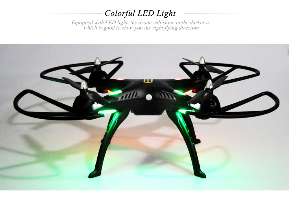HUANQI 899B 2.4G 4CH 6-Axis Gyro FPV Remote Control Quadcopter with 2.0MP HD Camera RTF