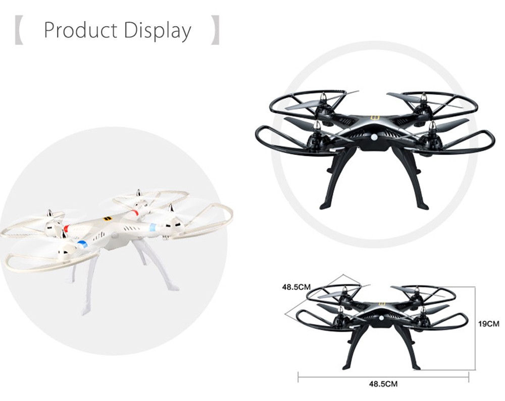 HUANQI 899B 2.4G 4CH 6-Axis Gyro FPV Remote Control Quadcopter with 5.0MP HD Camera RTF