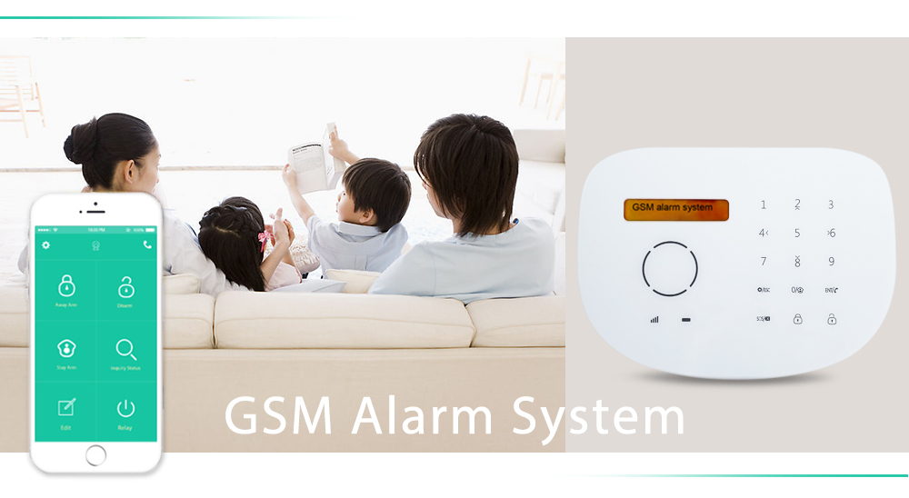 GS S2G Alarm System GSM Home Security Detector