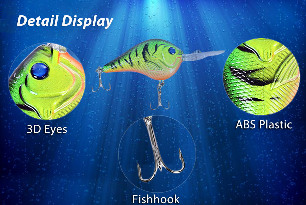 PROBEROS Hard Fish Shape 9.5CM Fishing Bait for Outdoor Activity