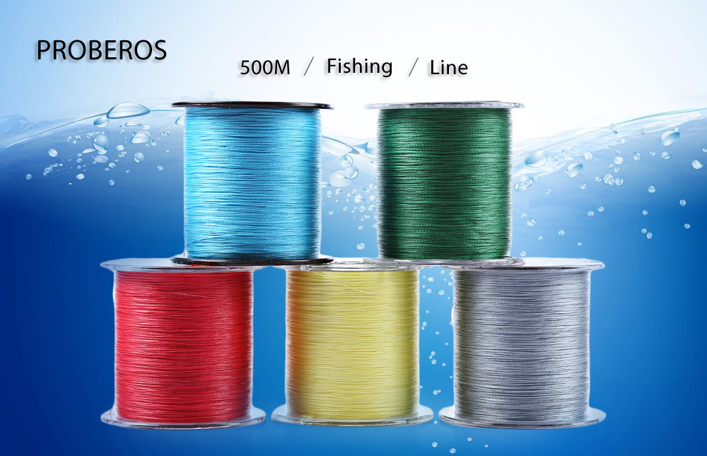 PROBEROS 500M PE Monofilament Fishing Line Strong 4 Strands Braided Wire