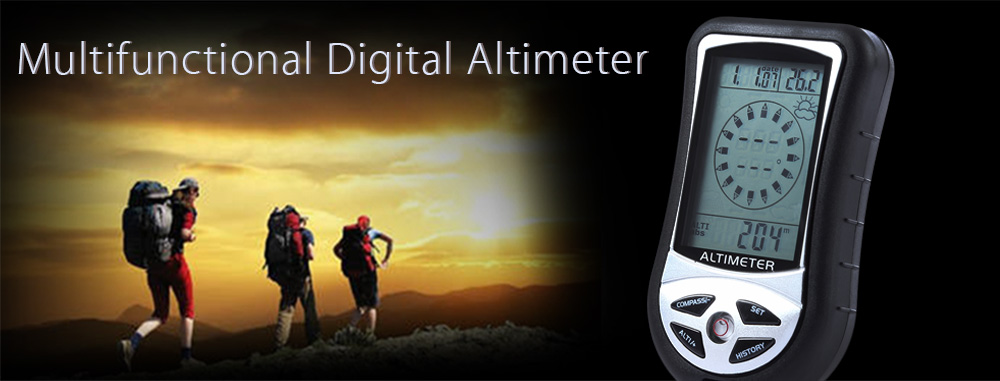 DS302 Altimeter Compass Barometer Multifunctional Weather Forecast History Record