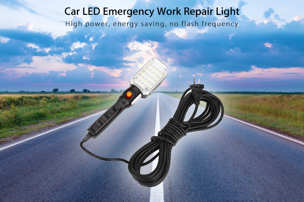 Portable Car Vehicle LED Work Repair Light with Hanging Hook and Magnetic Base