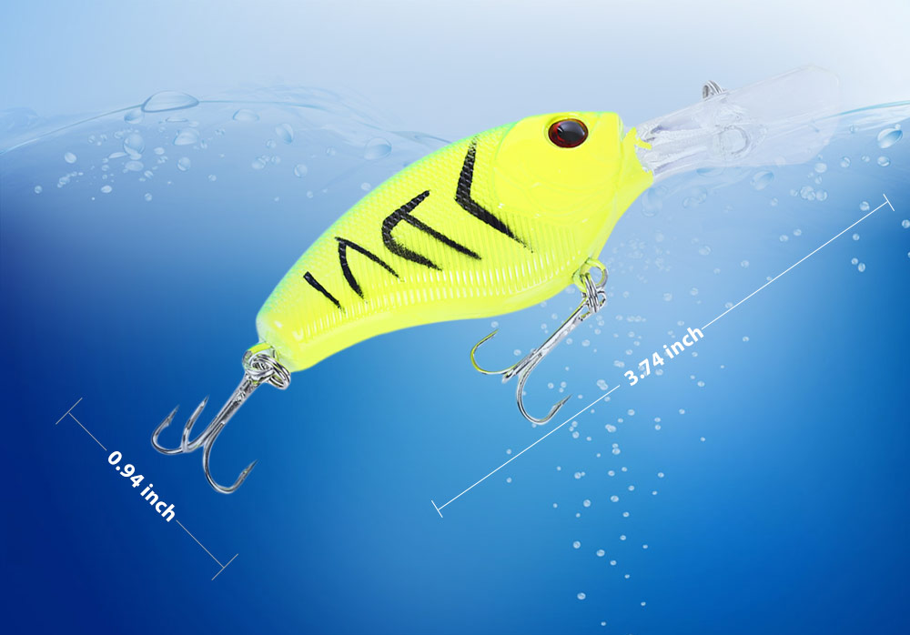 PROBEROS Hard Fish Shape Fishing Bait for Outdoor Activity