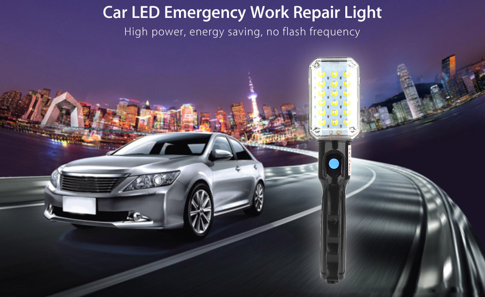 Portable Car Vehicle LED Work Emergency Repair Light with Hanging Hook and Magnetic Base