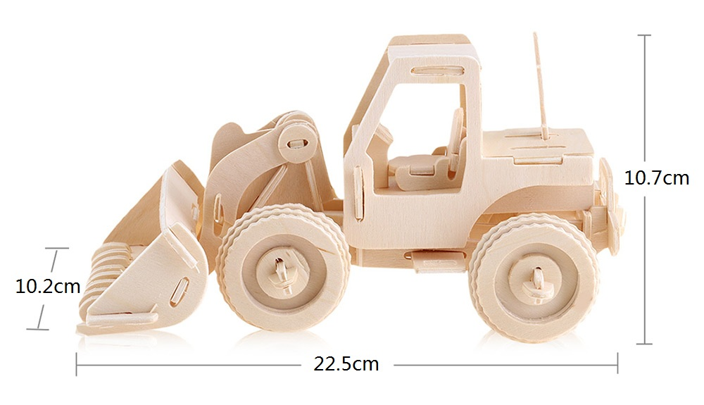 SEALAND G - P029 Wooden 3D Simulation Forklift Model Construction Kit Toy