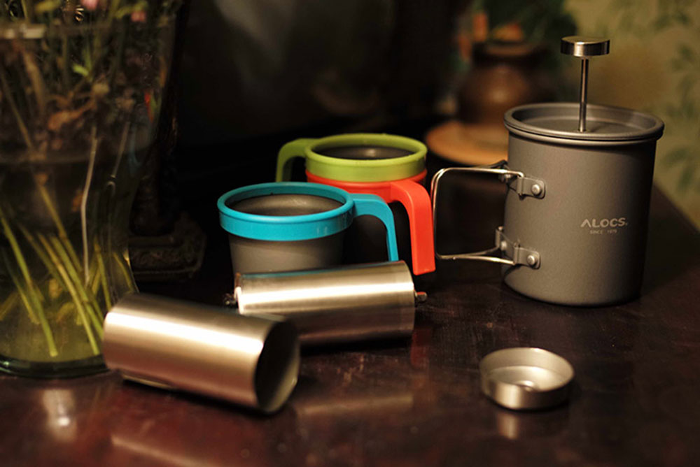 ALOCS CW - K10 Camping Travel Home Kitchen Grinding Set Stainless Steel Manual Coffee Grinder