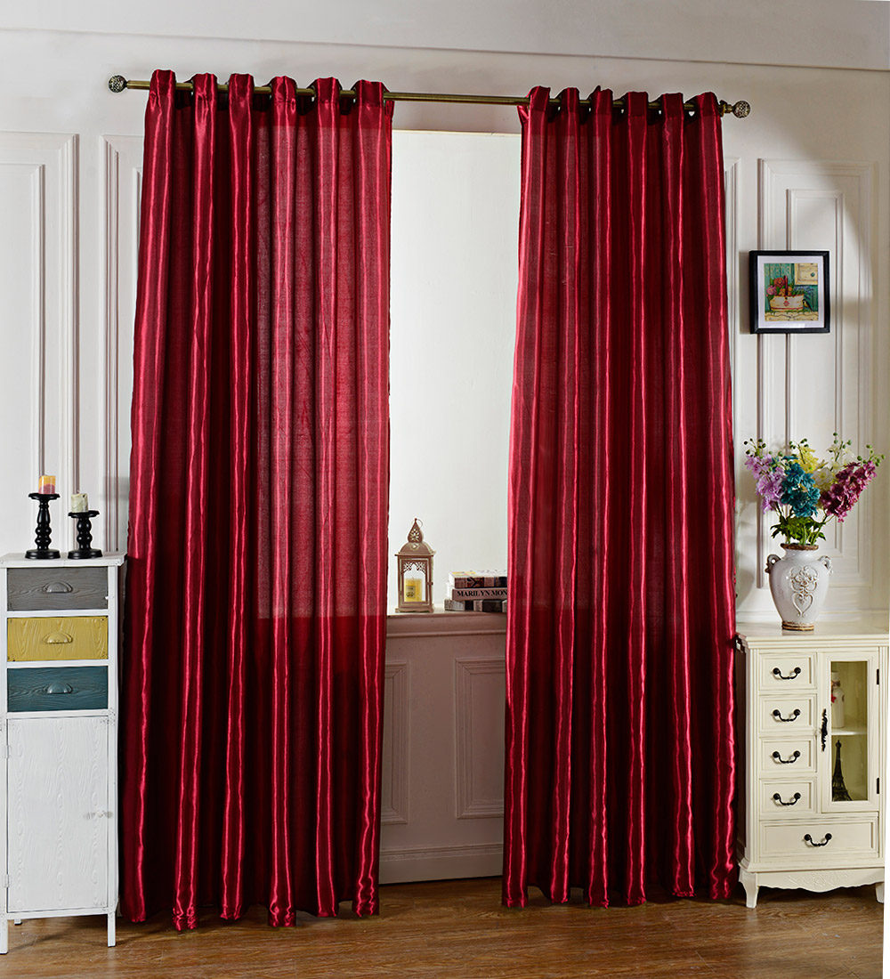 100 x 250CM Pure Color Grommet Ring Top Blackout Window Curtain for Bedroom Living Room