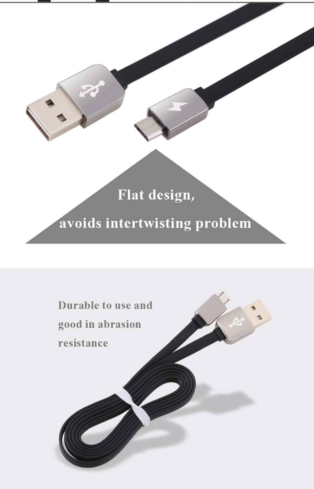 1M Micro USB Noodle Series Charging Cord for Android