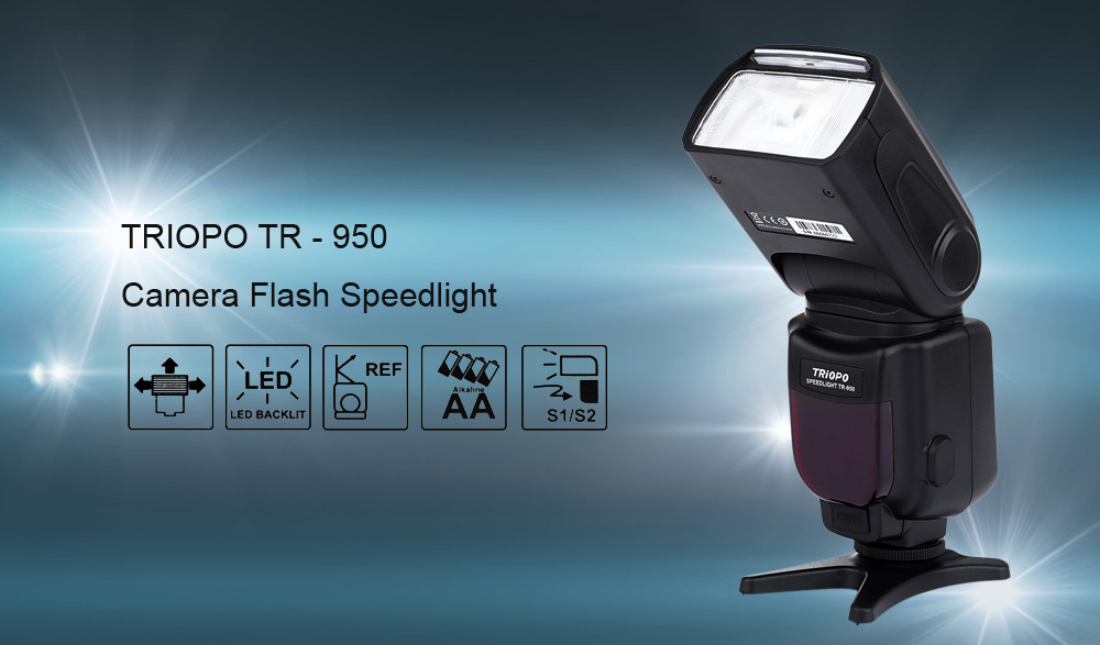 TRIOPO TR - 950 Manual Multi Flash Speedlight for Canon Nikon