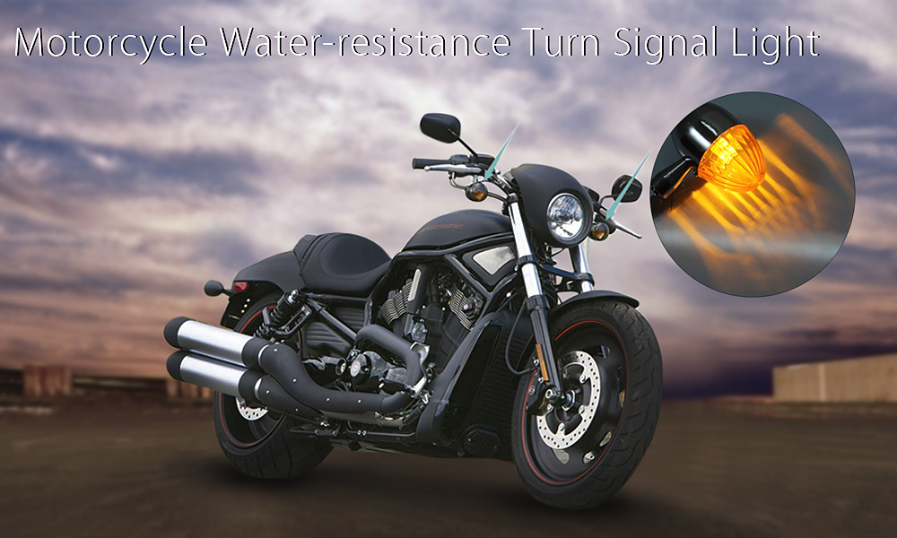 Pair of Motorcycle Motorbike Turn Signal Light Water-resistance Super Bright Lamp