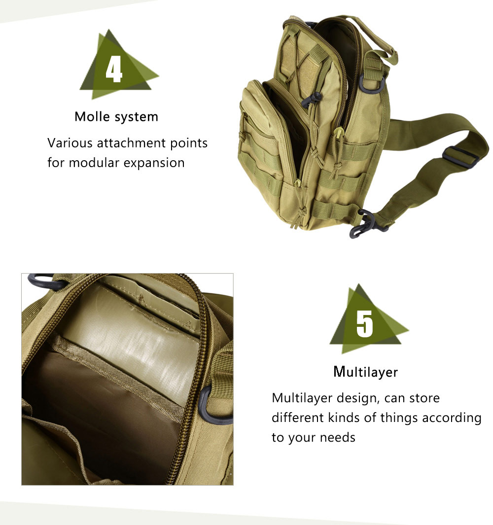 Outdoor Shoulder Military Backpack Camping Travel Hiking Trekking Bag