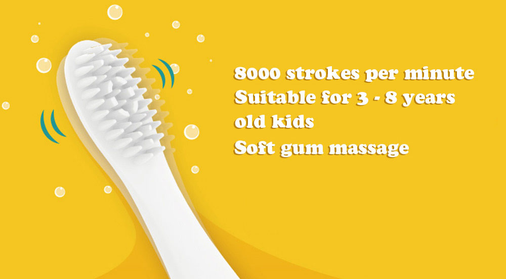 Yijan T2S Upgrade Animal IPX7 Waterproof Food Grade Silicone Brush Head Kids Music Electric Toothbrush with Bristle Replacement