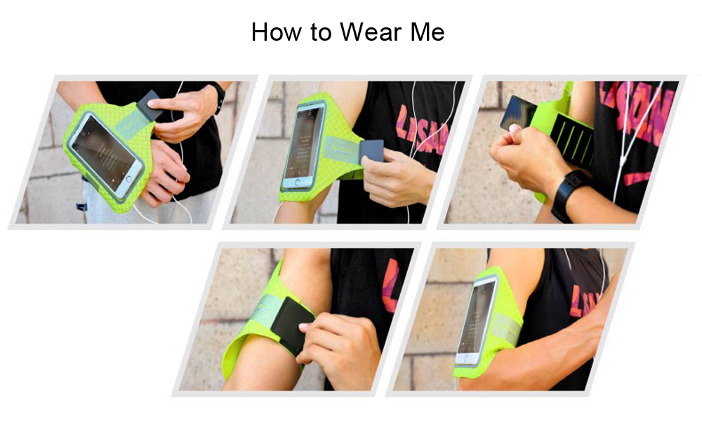 Baseus Sports Running Armband Adjustable Strap TPU Transparent Touch Cover for Phone 4.7 inch