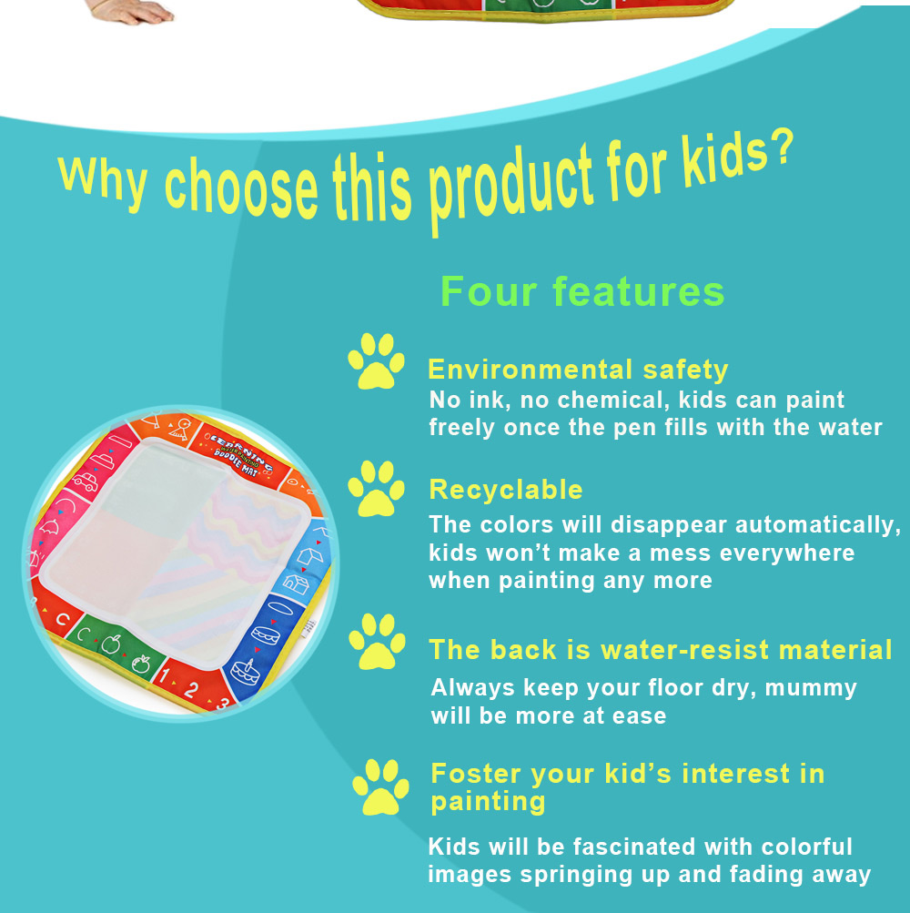 Magic Letter Water Drawing Mat Toy for Kids