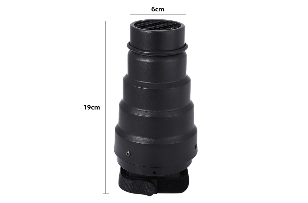 Universal Conical Snoot with Honeycomb Grid 5pcs Color Filter
