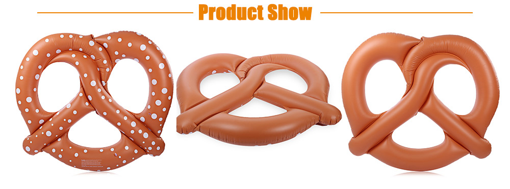 Inflatable Gigantic Bread Swimming Floating Row Pool Toy with Pump for Water Game