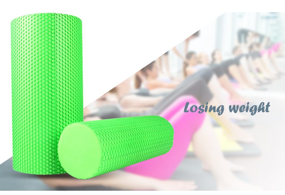 MILY SPORT 3.93 inches EVA Yoga Fitness Foam Roller Physio Blocks Exercise Massage Gym Cure Trigger Point