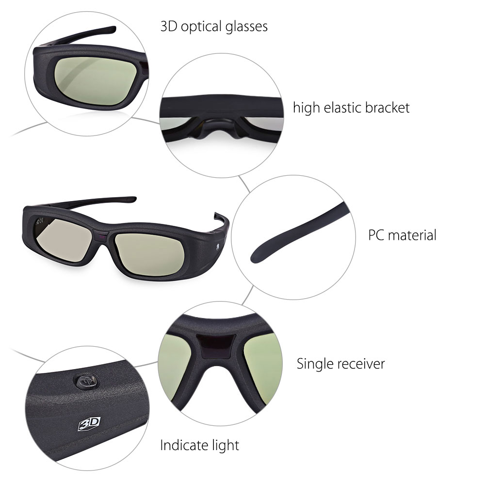 Gonbes G05A Bluetooth Infrared Signal Active Shutter 3D Glasses