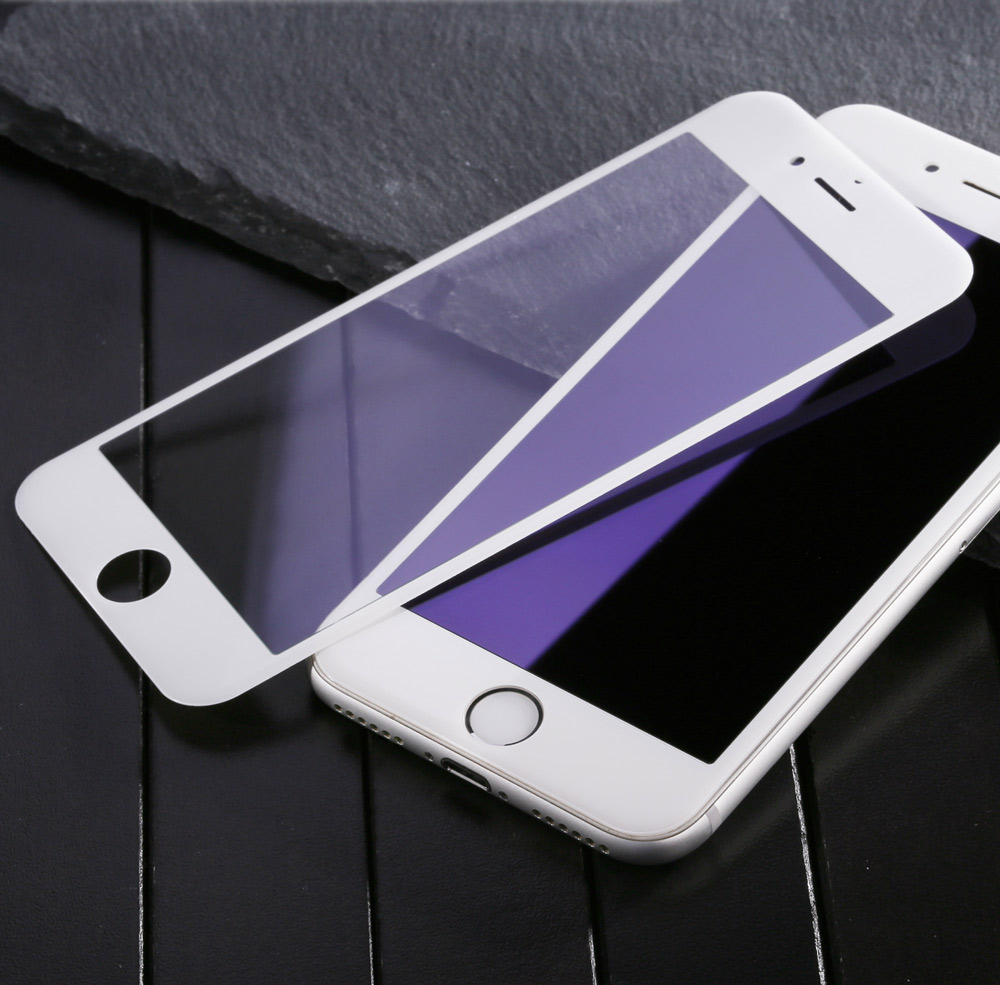 Baseus 3D Arc 9H Tempered Glass PET Soft Border Anti-blue Light Shatterproof Screen Protective Film for iPhone 7 4.7 inch