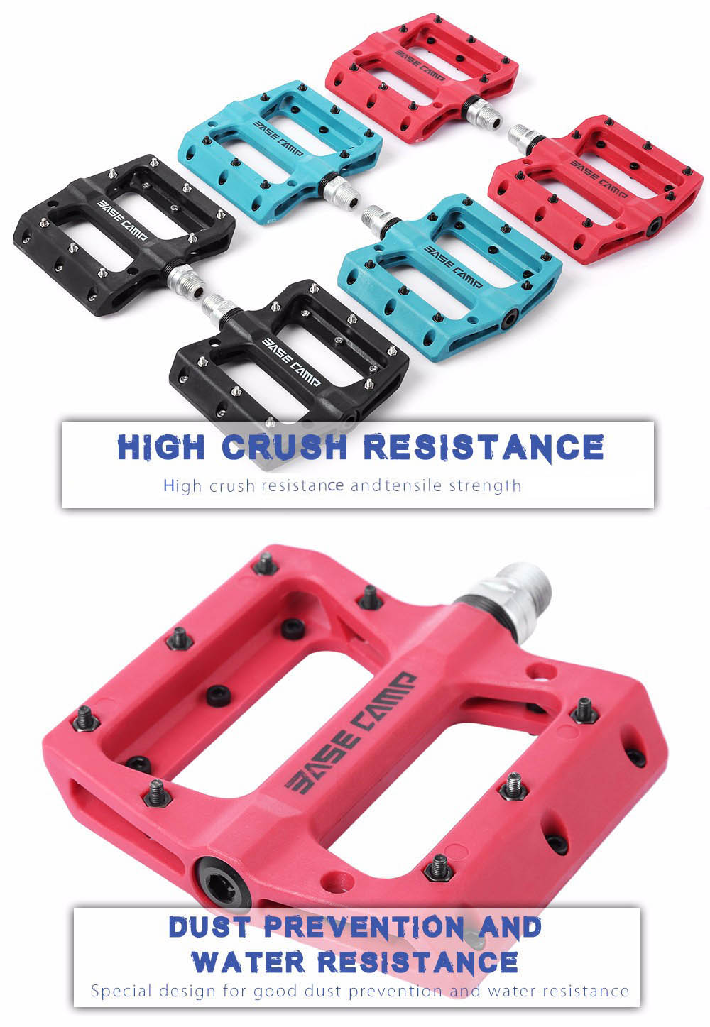 BASECAMP BC - 672 Paired Outdoor Cycling Road Mountain Bicycle Bike Pedal