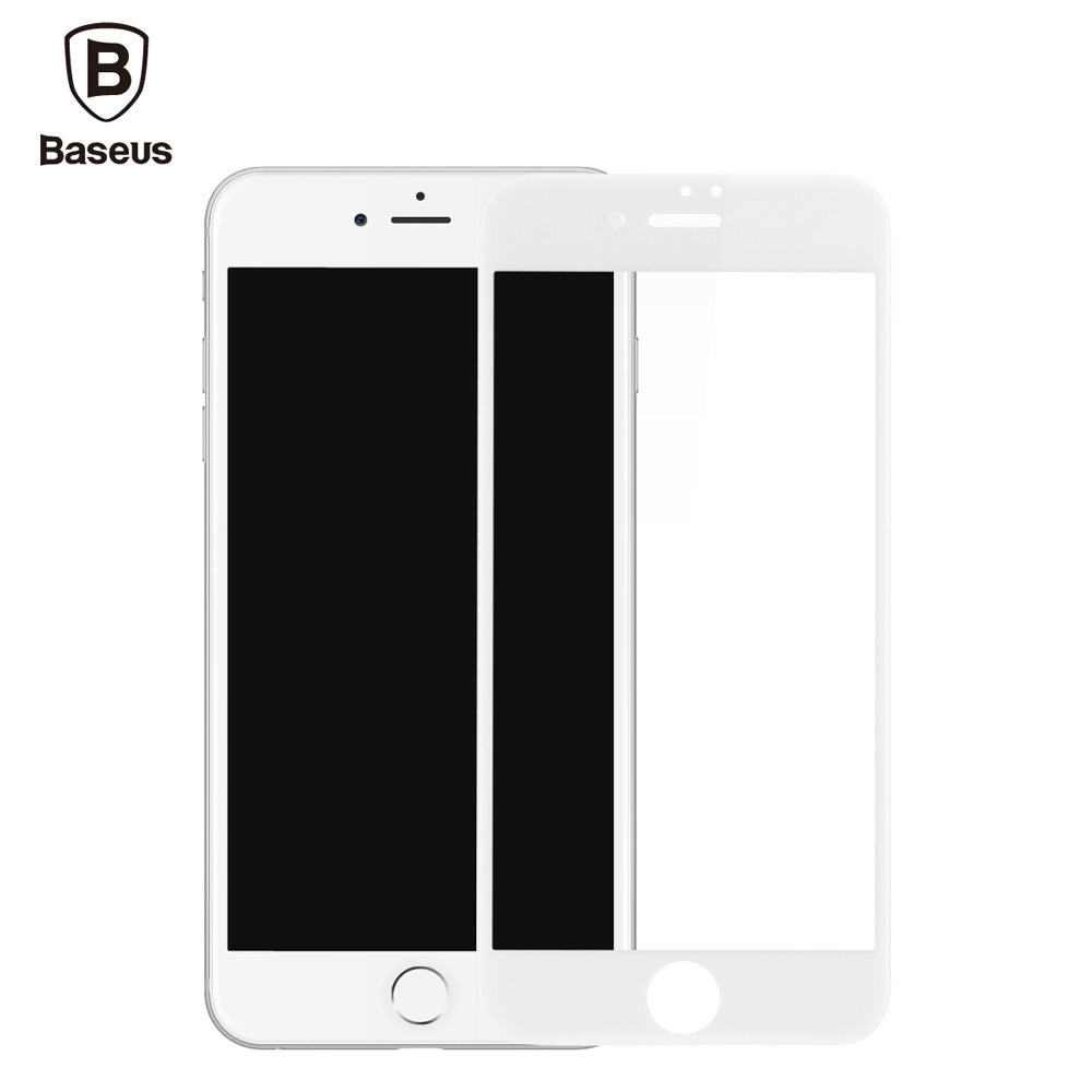 Baseus 3D Arc 9H Tempered Glass PET Soft Border Anti-blue Light Shatterproof Screen Protective Film for iPhone 7 Plus 5.5 inch