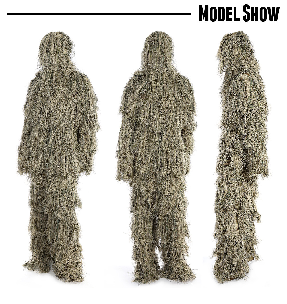 Hunting Woodland Sniper Ghillie Suit Set Tactical Camouflage Clothing
