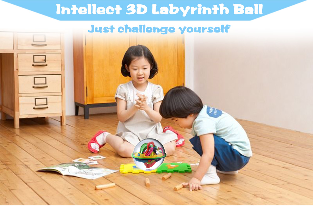 Creative Intellect 3D Labyrinth Ball Challenging Exploration Brain Teaser Puzzle Toy
