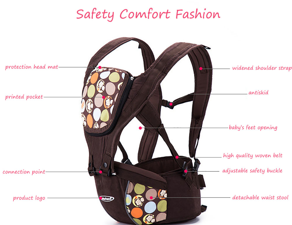 Colorland Breathable Multi-function Baby Waist Stool