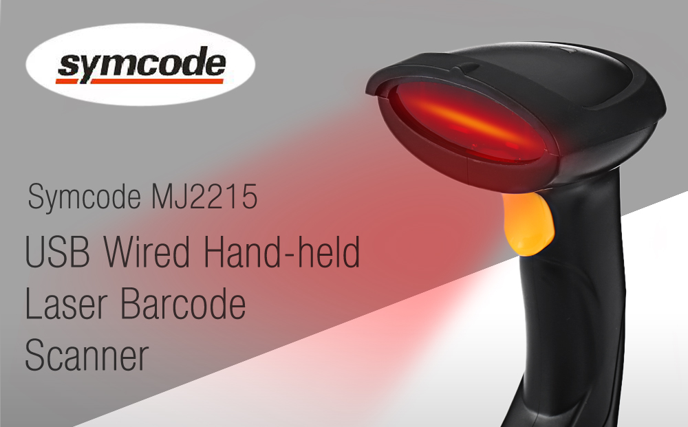 Symcode MJ2215 USB Wired Handheld Laser Barcode Scanner