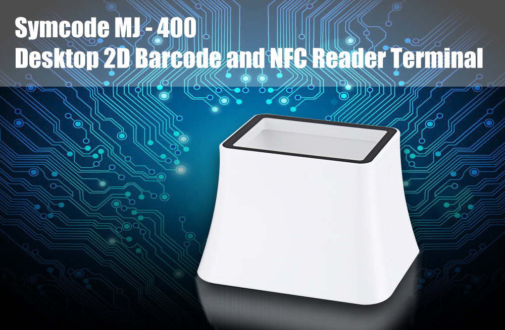 Symcode MJ - 400 Desktop Style 2D Barcode and NFC Reader Terminal