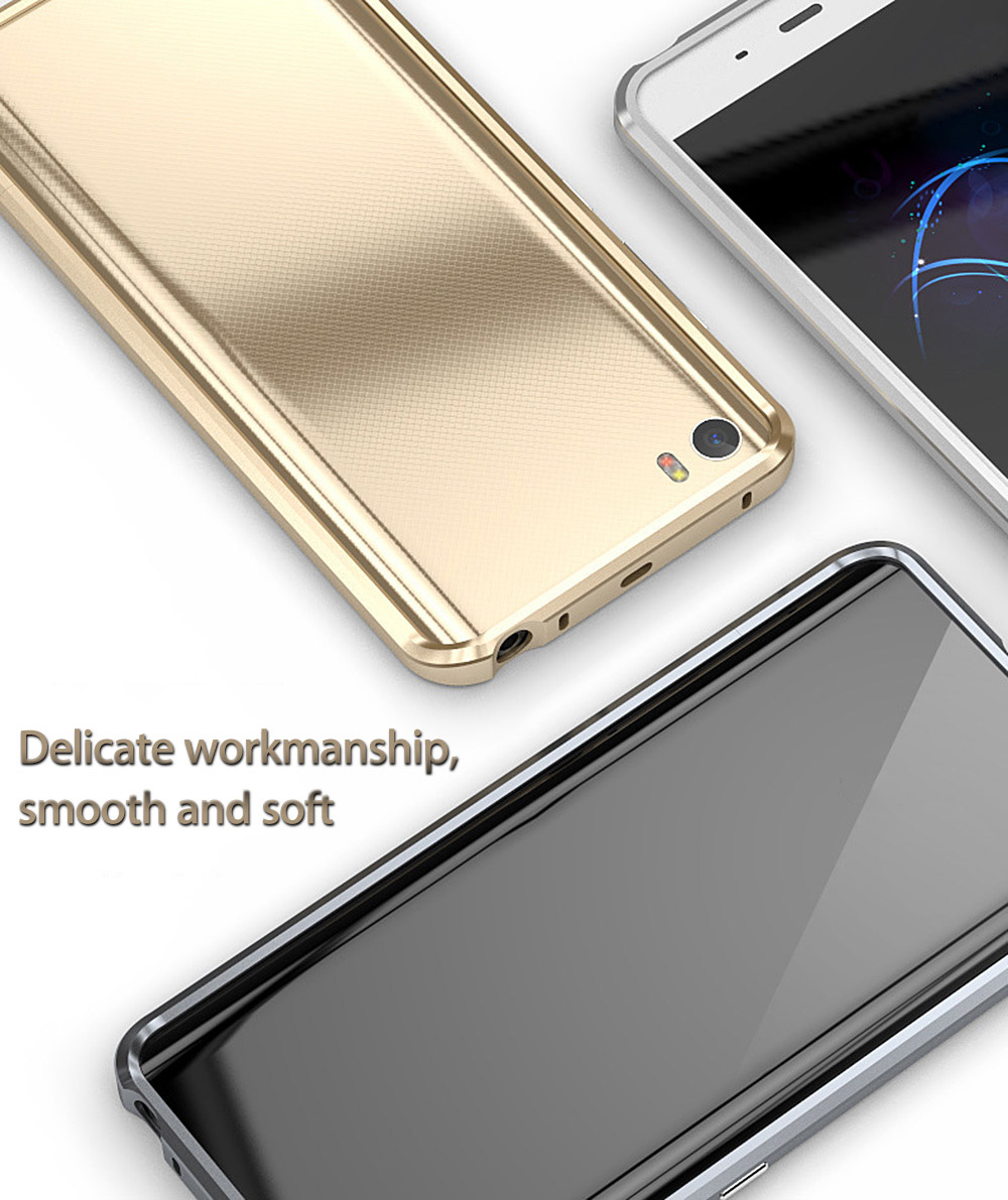 5.15 inch Metal Frame Protective Mobile Phone Back Case Cover for Xiaomi 5
