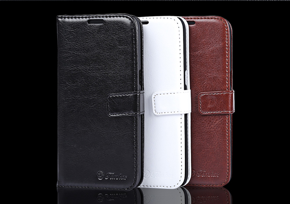 Tomkas Crazy Horse Series Magnetic Flip PU Leather Stand Case Wallet Cover for Samsung Galaxy S7