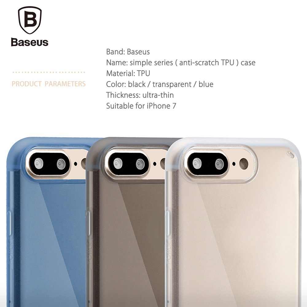 Baseus Simple Series Anti-scratch Ultra Slim Electroplate Plating TPU Case for iPhone 7