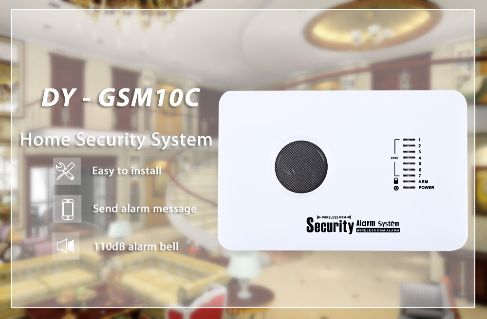 DY - GSM10C GSM Wireless Infrared Alarm Home Security System