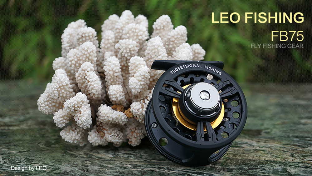 LEO FB75 Left Right Interchangeable Full Metal Fly Fishing Reel Former Rafting Front Drag Spinning Fish Wheel