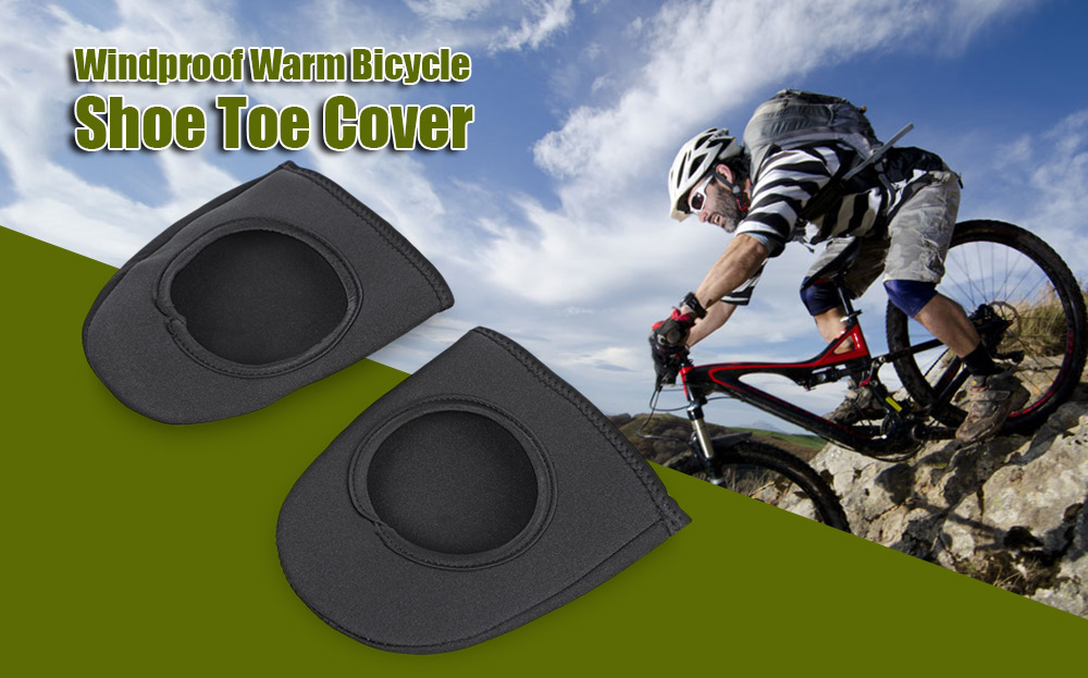 Paired Nylon Windproof Warm Mountain Bike Bicycle Shoe Toe Cover
